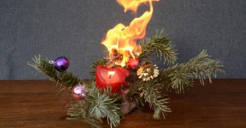 Brandende Kerstdecoratie